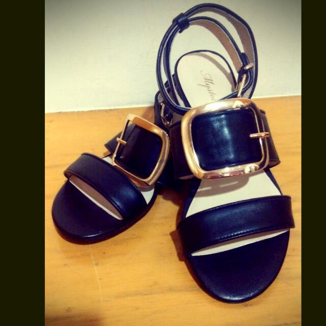 韓系綁帶羅馬鞋