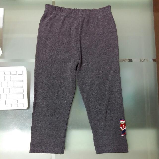 刺繡小熊棉褲