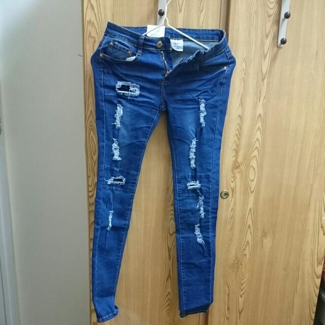 窄管牛仔褲
