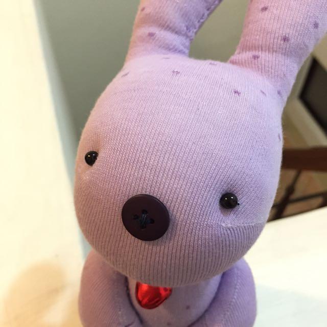 純手工襪子娃娃~短腿兔兔園區/滿點薰衣草