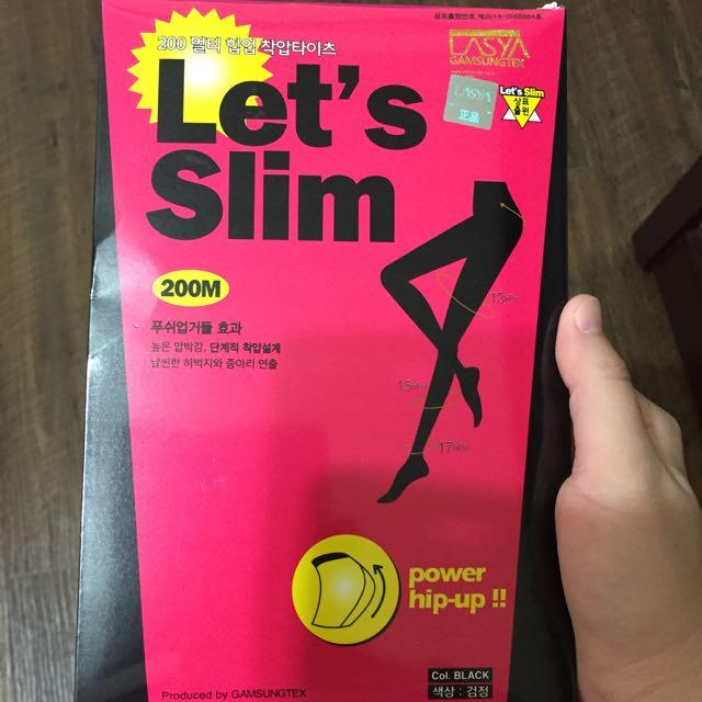 韓國 let s lets slim 正品 壓力燃脂美腿塑形襪