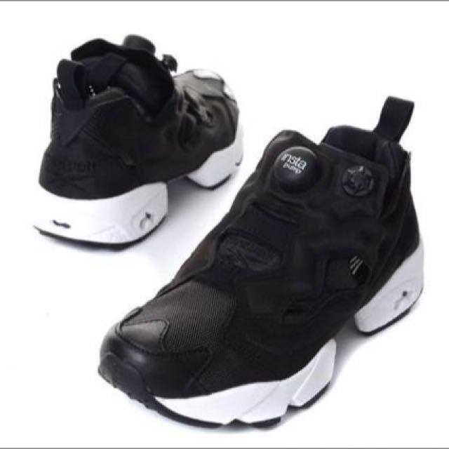 韓國 Reebok Pump Fury 運動鞋 氣墊鞋 韓國限定 全黑 經典款 22-28 建議帶大半號剛好 可預購訂購 約10-15天到貨 超低特價