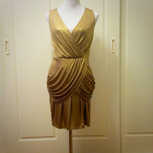 Temperley Gold Mini Dress