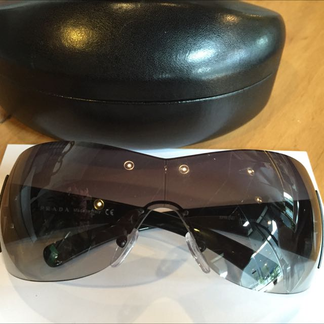 Brand New Prada Black Shield Unisex Sunnies