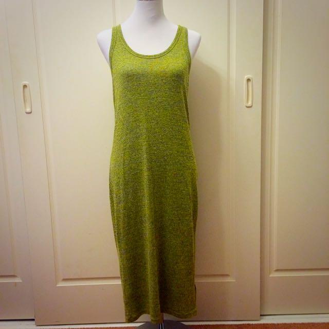 Green Knit Midi Dress