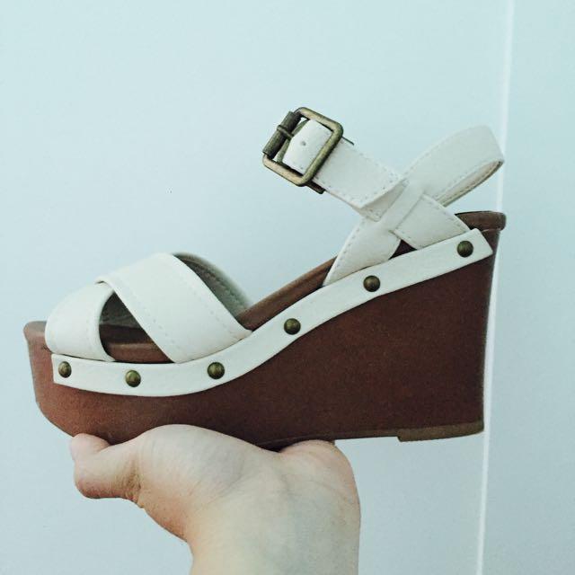 🇯🇵Heather 🇯🇵白色厚底鞋