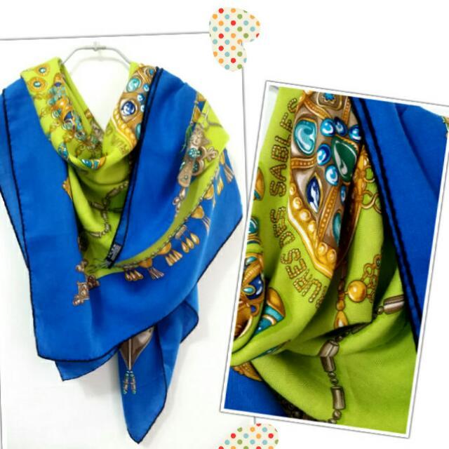 ❤在雅虎拍賣售出❤愛馬仕Hermes 140x140喀什米爾加絲大披肩圍巾cashmere