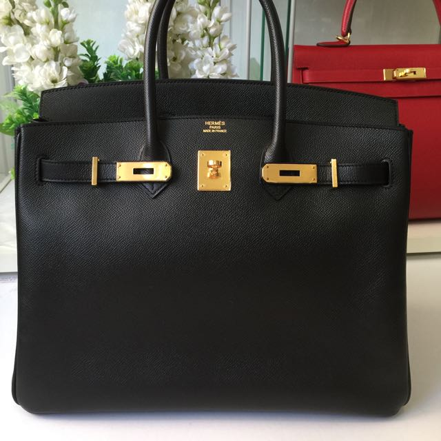 2e97992a024 ... greece hermes birkin 35 black epsom gold hardware luxury on carousell  8394f f691a