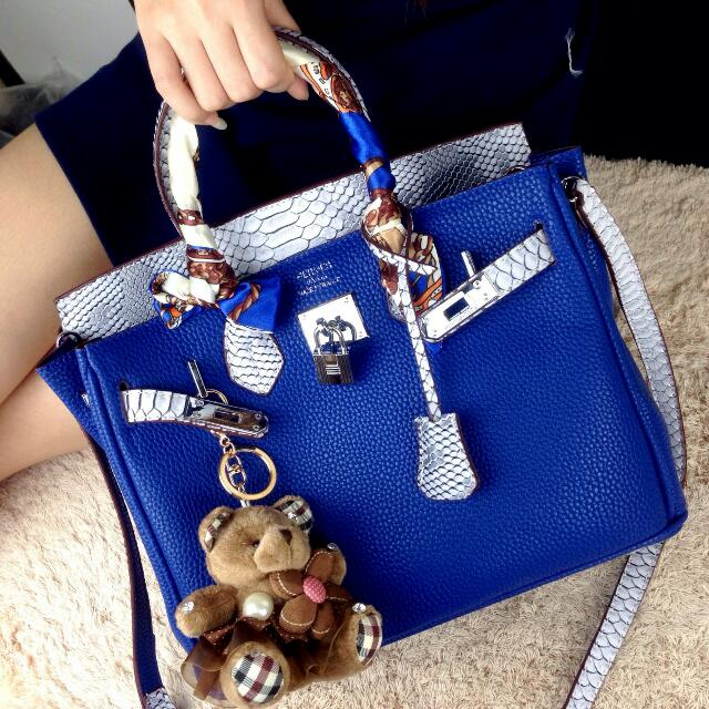 HERMES BIRKIN TOGO COMBINATION LIZARD SHW WITH LONGSTRAP & WALLET