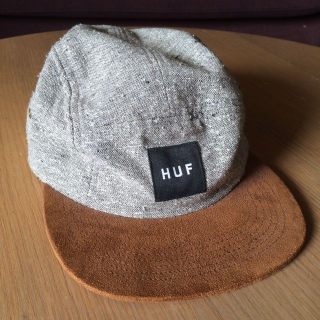 535be23c HUF Tweed Volley 5 Panel Cap Grey, Men's Fashion on Carousell