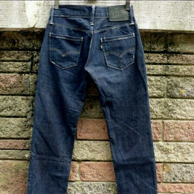 LEVIS 稀有黑標  日版 原色直統褲