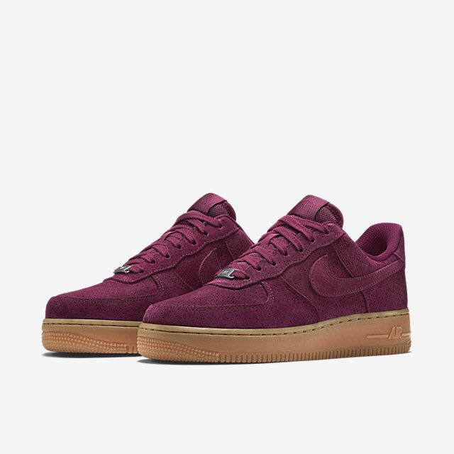 Nike Air Force One 07 Suede (Women) - Deep Garnet Gum Medium Brown ... e0424851f