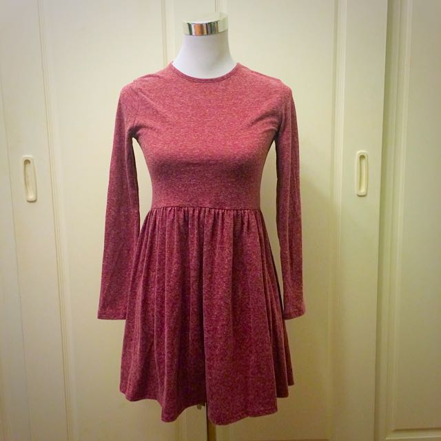 Pink Long-Sleeved Dress