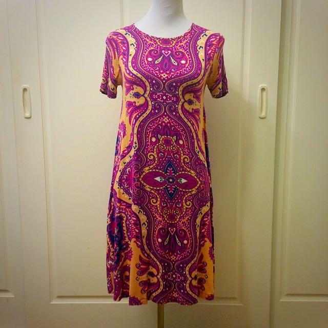 Pink Printed Dress