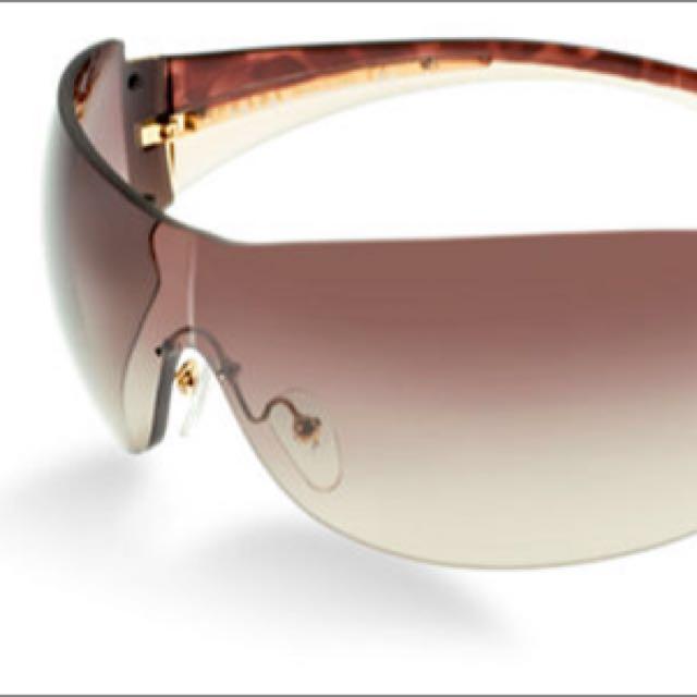 Prada Brown & Gold Shield Sunglasses