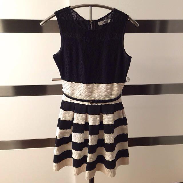 SO NICE 黑白色洋裝