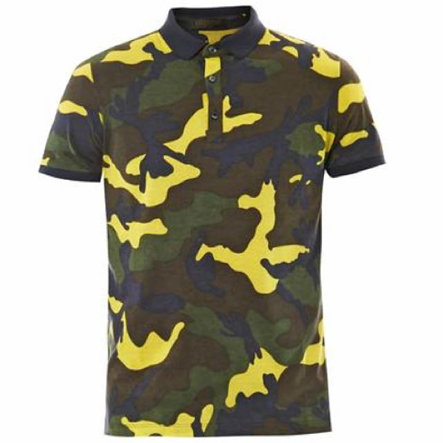 7c464ff19 Valentino Camouflage Print Jersey Polo Shirt, Luxury, Apparel on ...