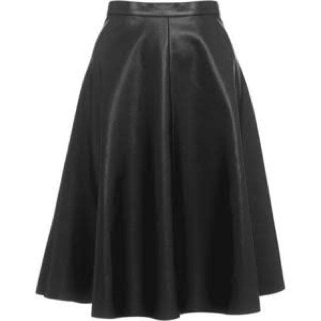 Whistles Leather Midi Skirt
