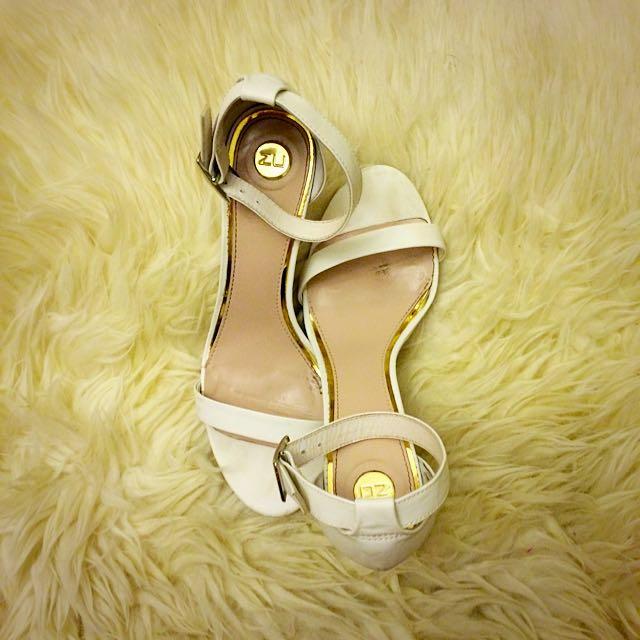 ZU White and Silver Sandal