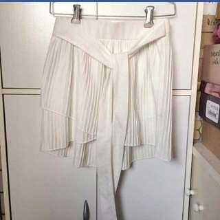全新白色綁帶蝴蝶結裙
