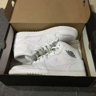 Nike Air Jordan 1 AJ1 mid 全白