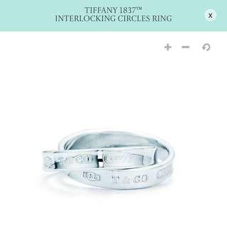 Tiffany & Co. 1837 Interlocking Circles Ring 蒂芬妮1837純銀雙環戒