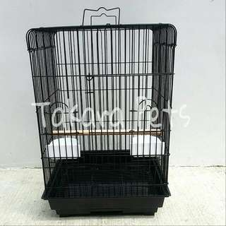 Black Cage For Small To Medium Parrot