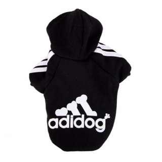 Small Black Adidog Hoodie