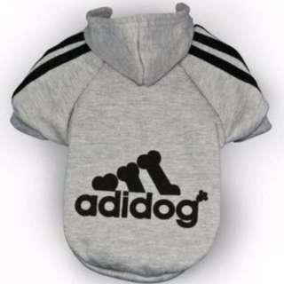 Medium Grey Adidog Hoodie