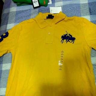 🚚 RL Polo 經典襯衫 黃 L號