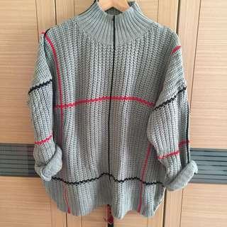韓版缐條針織毛衣