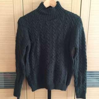 韓國麻花小高領針織毛衣