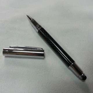 🚚 碳纖維觸控鋼珠兩用筆-兩用可寫,可觸控 !