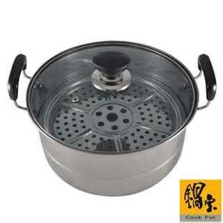 鍋寶不銹鋼雙耳蒸煮鍋