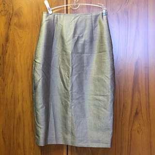BN Grey Textured Pencil Skirt
