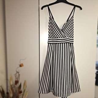 Sass black & White Dress SIZE 14