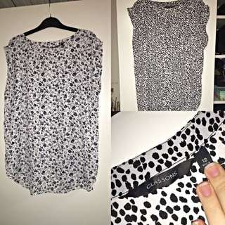2X Glassons tops size 12