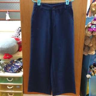 寶藍色寬褲