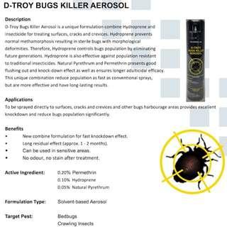 D-Troy Bugs Killer Aerosol