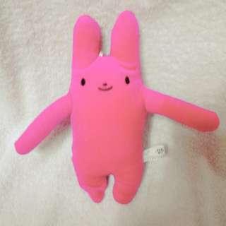 可吊書包桃色-長抱兔兔