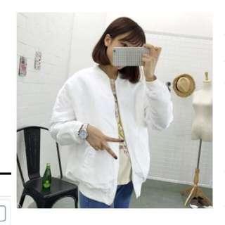 🎈miss p&y薄款白色飛行外套