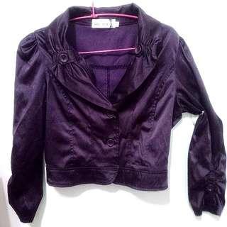 (二手)氣質短版紫色小外套
