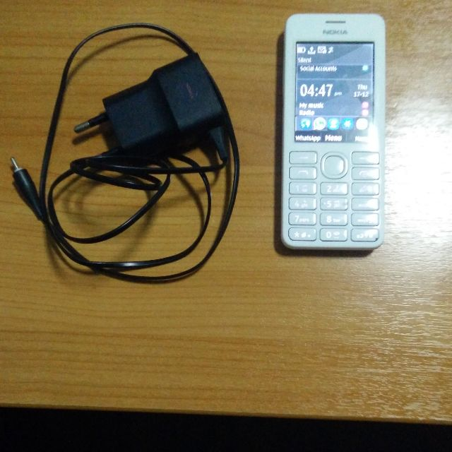 2nd hand Nokia 206 Dual Sim Phone (Can Whatsapp) with power adapter