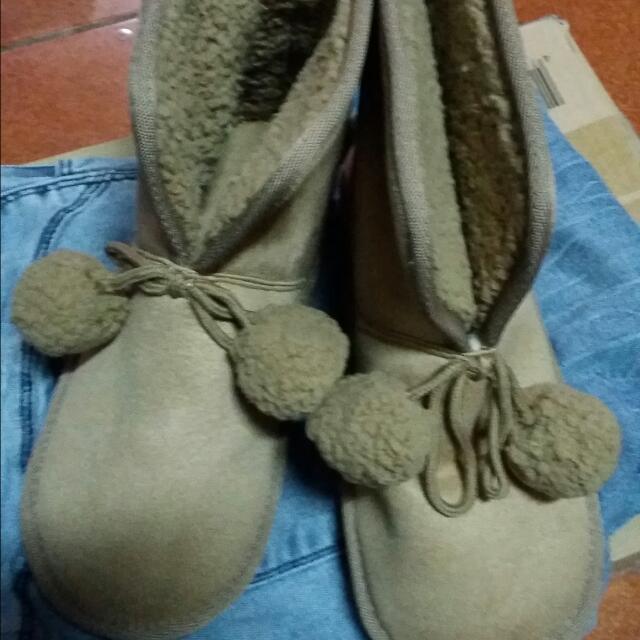 隨便賣~駝色雪靴