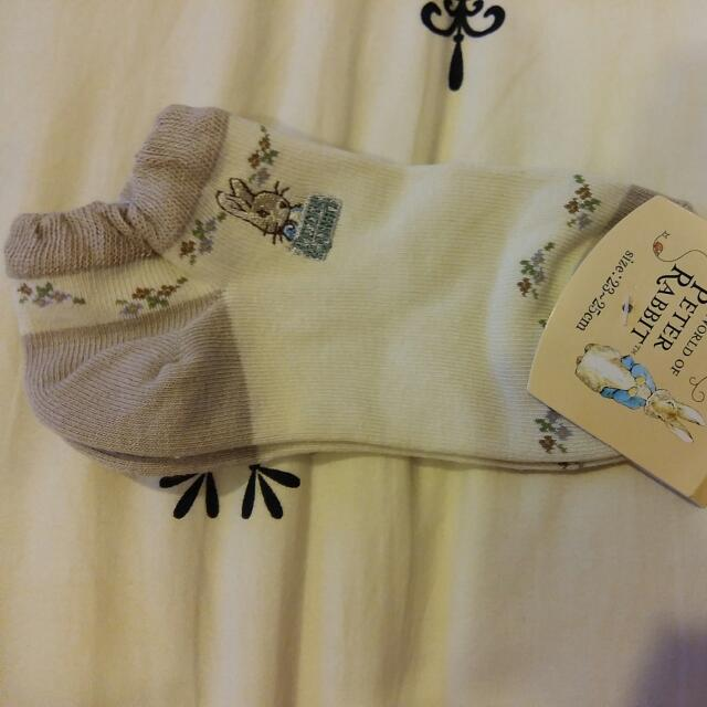 彼得兔襪子-米色