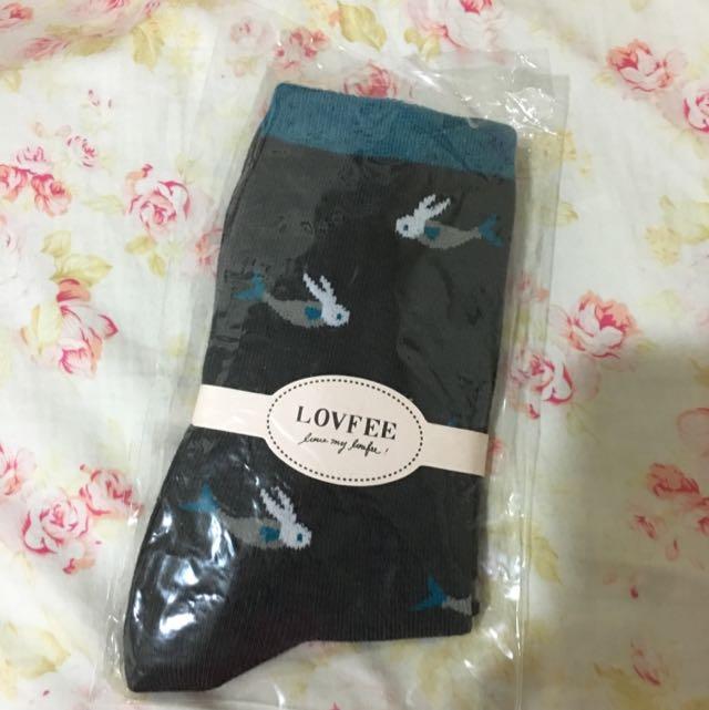 造型圖樣中筒襪