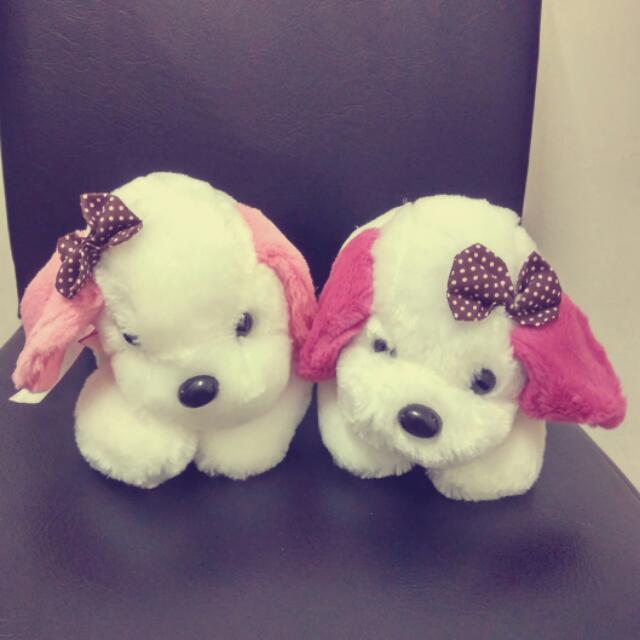 雙胞胎小狗 娃娃 毛絨玩具