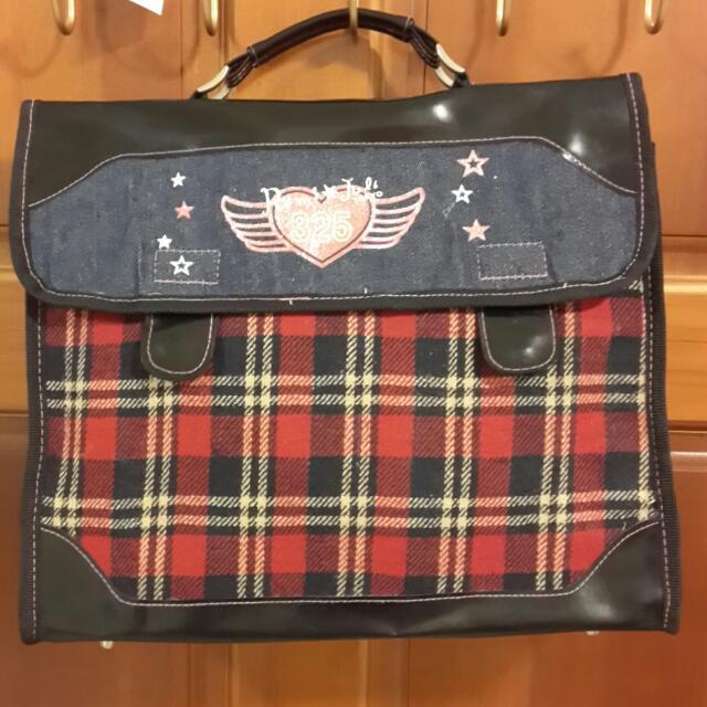 #爸爸節8折 英倫學院風 手提包 書包