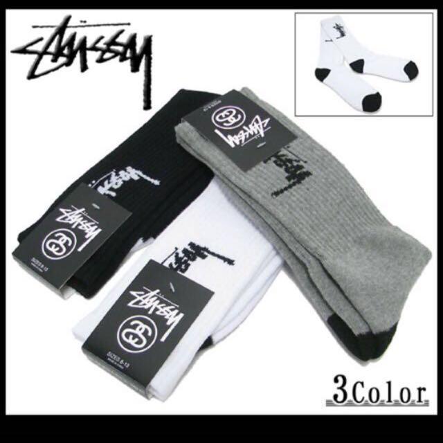 ✨全新 Stussy 長襪 灰色一雙