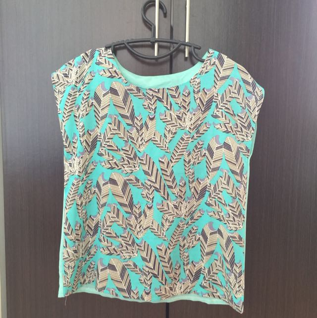 BN Feather Teal Top